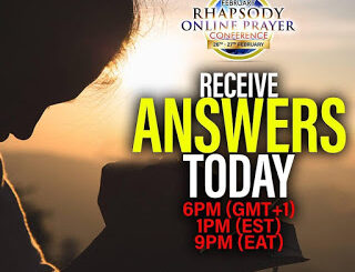 Go Live With Rhapsody Online Prayer Conference #ROPC2021 To Receive Your Answers Today